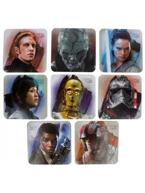 Pack 4 Posavasos Star Wars Episodio VIII