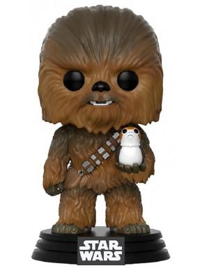 Funko Pop! Star Wars Chewbacca con Porg Episodio VIII