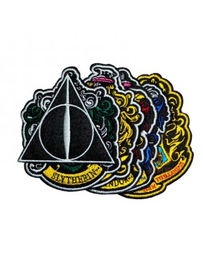 6 Parches Bordados Casas Harry Potter