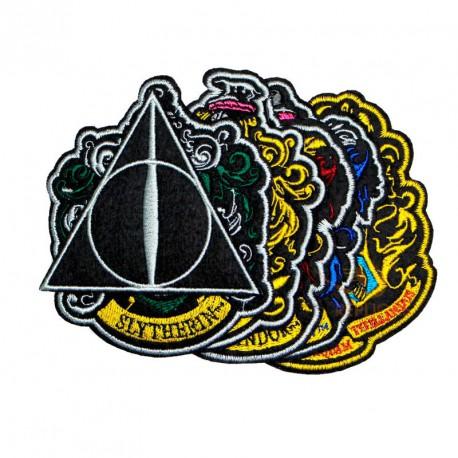 6 Parches Bordados Casas Harry Potter