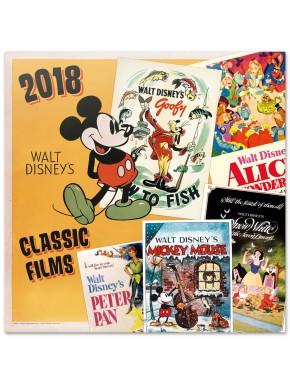 Calendario pared 2018 Disney Classic Films