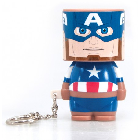 Llavero linterna LED Capitán América