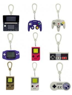 Surtido de 24 llaveros Nintendo Mandos