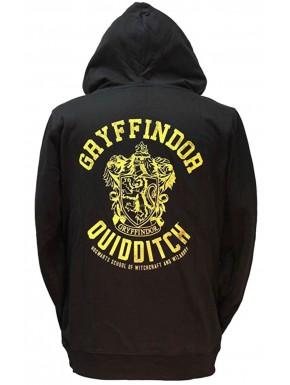 Sudadera Harry Potter Gryffindor Quidditch con capucha