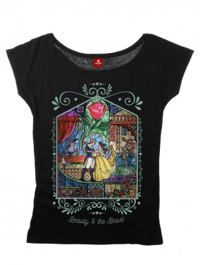 Camiseta Chica Disney La Bella y la Bestia Vidriera
