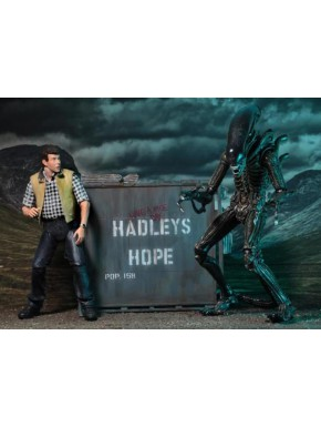 Set 2 Figuras Aliens Hadley's Hope 18 y 22 cm