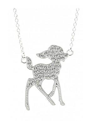 Colgante oro blanco y cristal Bambi Disney