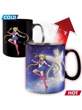 Taza Térmica Sailor Moon Sailor y Chibi