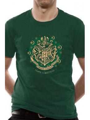 Camiseta Harry Potter Hogwarts Happy Christmas