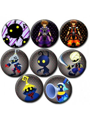 Set 8 chapas Kingdom Hearts Characters