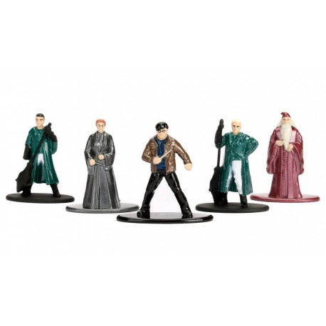 Pack 5 Minifiguras Harry Potter Quidditch Nano Metalfigs Diecast 4 cm