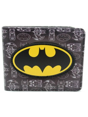 Cartera Batman black pattern