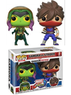 Funko Pop! Pack Gamora y Strider Marvel VS Capcom Infinite