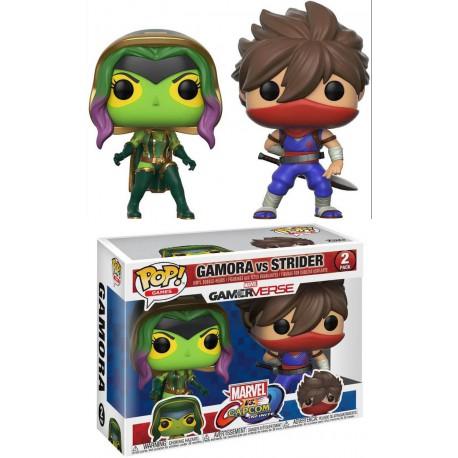 Funko Pop! Pack Gamora y Strider Marvel VS Capcom Infinite