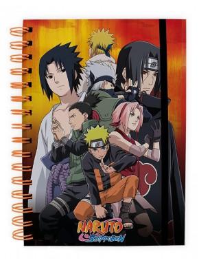 Cuaderno espiral A5 Naruto Shippuden