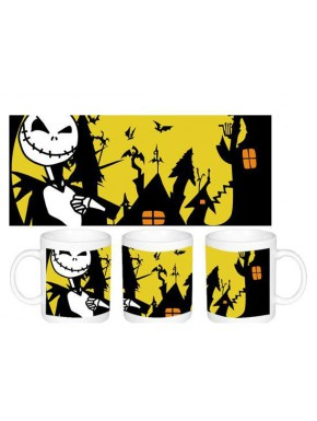 Taza The Nightmare before Christmas yellow