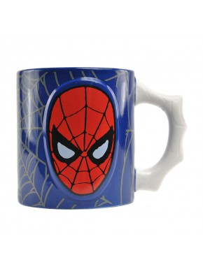 Taza Relieve Spiderman Marvel Comics