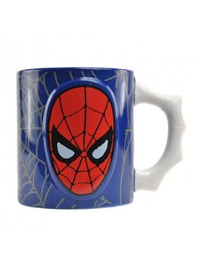 Taza Relieve Spiderman Marvel Comics