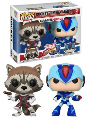 Funko Pop! Pack Rocket y Megaman Marvel VS Capcom Infinite