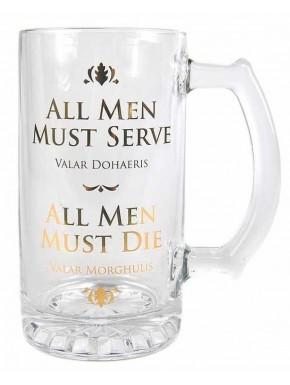 Jarra de Cerveza Juego de Tronos Valar Morghulis