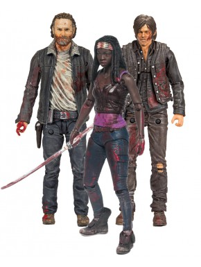 Set 3 Figuras The Walking Dead 13 cm Michonne, Rick and Daryl