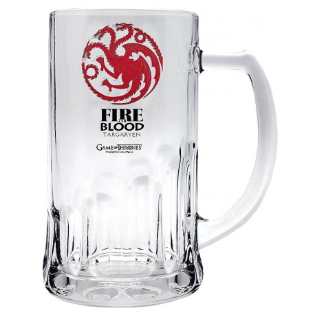 Jarra Cerveza cristal Targaryen