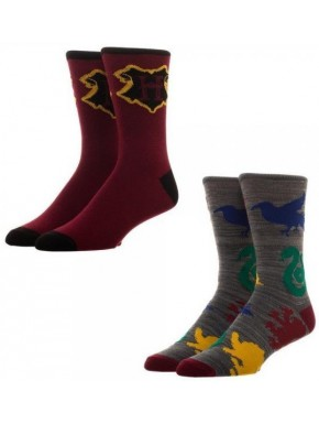 Set 2 pares de calcetines Harry Potter Crew