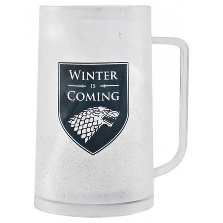 Jarra de Cerveza Juego de Tronos Stark Winter is Coming