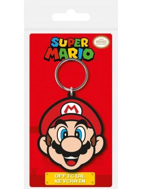 Llavero caucho Super Mario Head