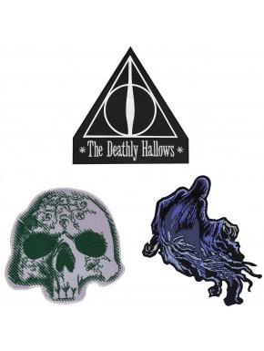 Set 3 Parches Bordados Harry Potter Reliquias de la Muerte