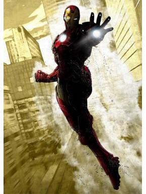 Poster metálico Iron Man Marvel 10 x 14 cm