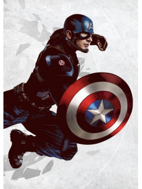 Poster metálico Capitán América Marvel 10 x 14 cm Ed. Limitada