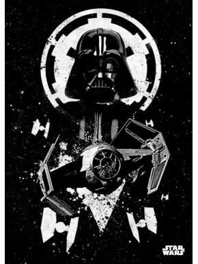 Poster metálico Star Wars Vader Tie 10 x 14 cm Ed. Limitada