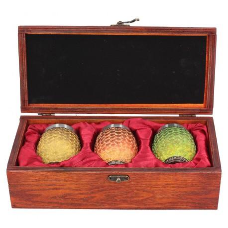 Set 3 vasos chupito Huevos Dragon Juego de Tronos