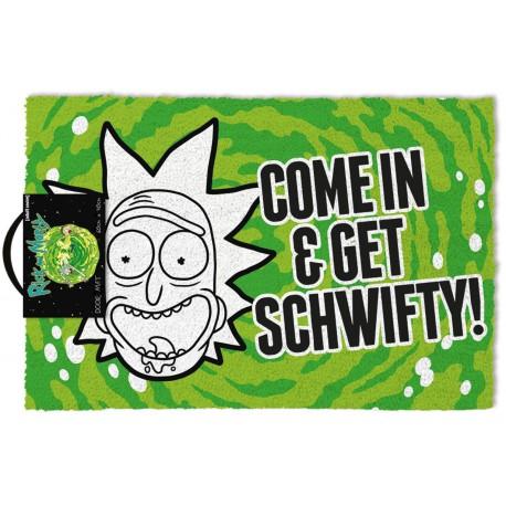 Felpudo coco Rick y Morty Get Schwifty