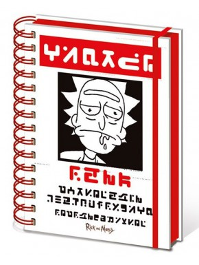 Cuaderno Premium A5 Rick y Morty Wanted