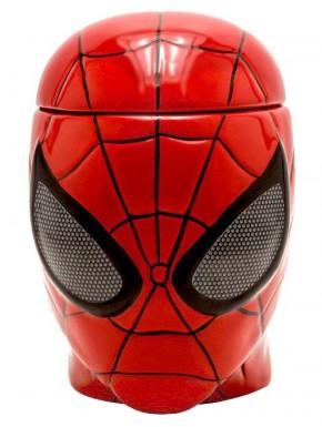 Taza Spider-Man 3D con tapa