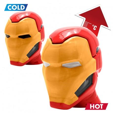 Taza térmica Iron Man 3D con tapa
