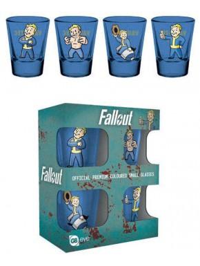 Set de 4 vasos chupito Fallout Vault Boy