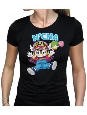 Camiseta Chica Arale y Gacchan Doctor Slump