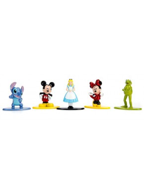 Pack 5 Minifiguras Disney Nano Metalfigs Diecast 4 cm