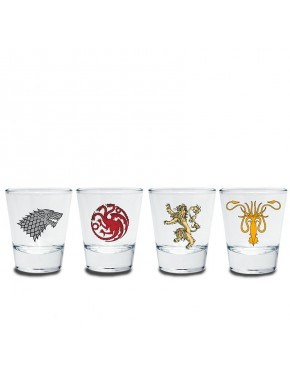Set 4 vasos chupitos Juego Tronos Emblemas