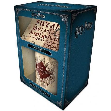 Pack regalo Harry Potter Taza + Llavero + Posavasos Mapa del Merodeador