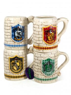 Pack Jarras Cerveza casas Hogwarts