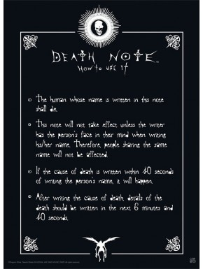 Poster Death Note Normas