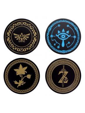 Set 4 posavasos metal Zelda Nintendo