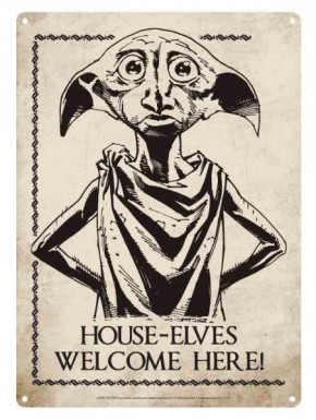 Placa Metal Dobby Harry Potter