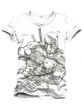 Camiseta Deadpool Sketch Marvel
