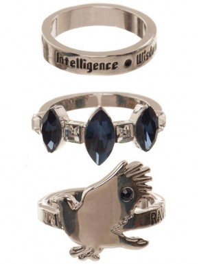 Set de 3 anillos Ravenclaw Harry Potter