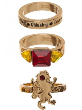 Set de 3 anillos Gryffindor Harry Potter